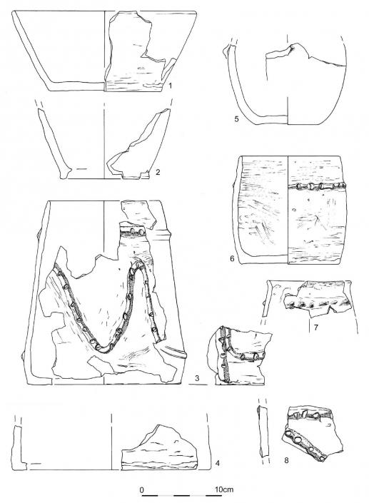 pendeloque perforée néolithique en schiste