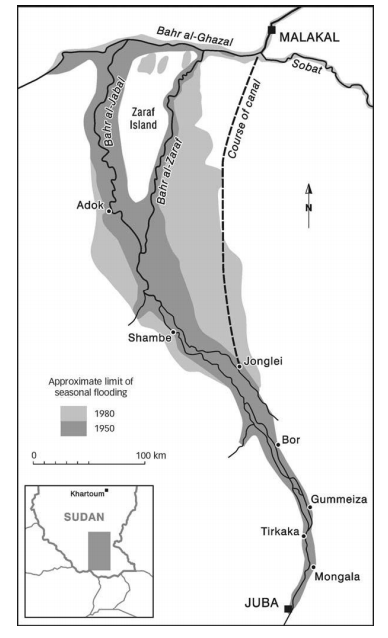 State and societal challenges in the horn of africa resource figure 1 map of the jonglei canal sciox Gallery