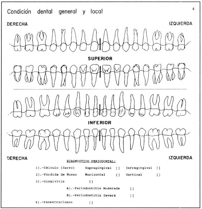 formato de odontograma