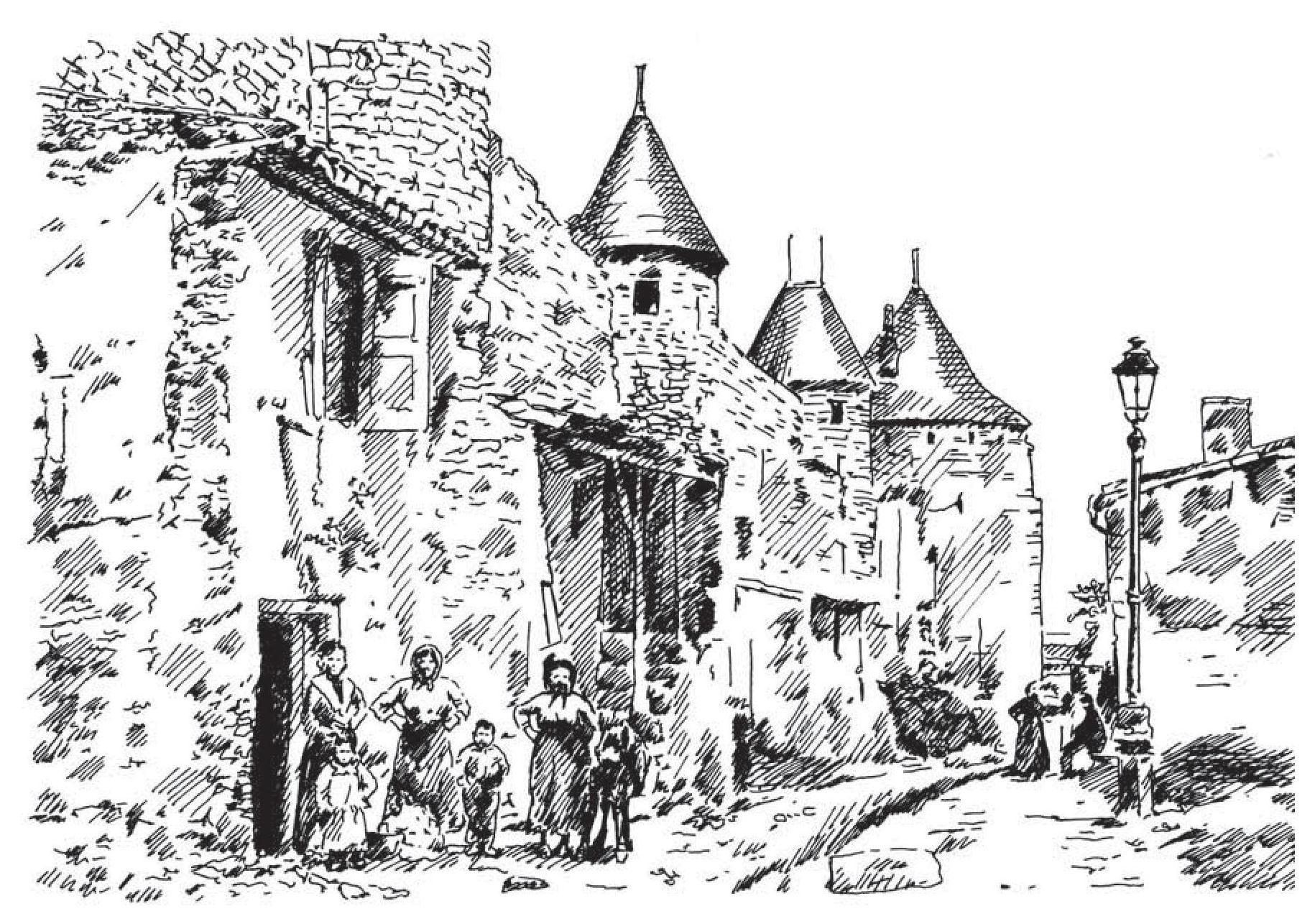 Maison En Ruine Dessin les monuments sont habités - À carcassonne, la cité sous les