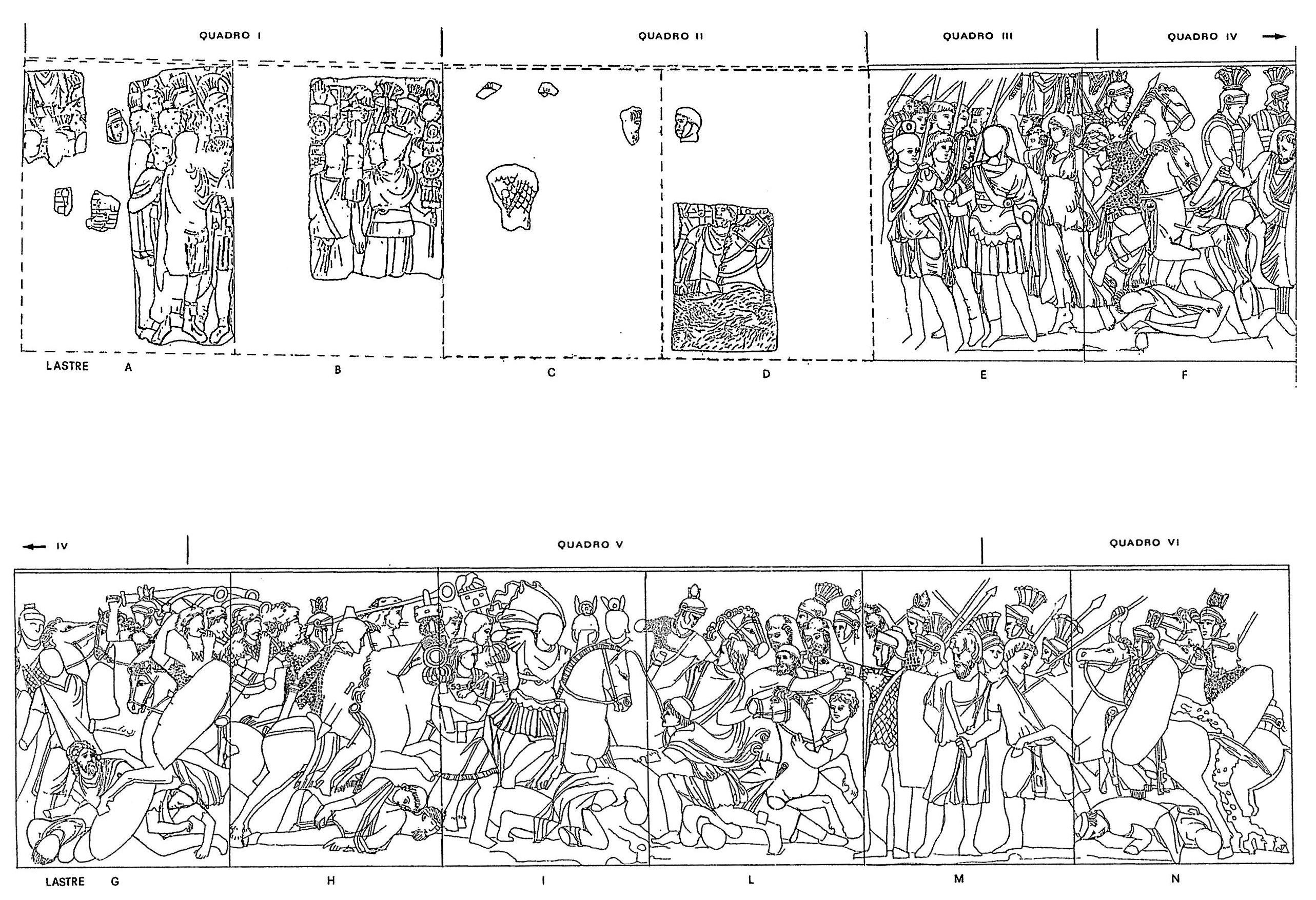 La colonne trajane et les forums imp riaux chapitre 4 - Frise petit prince ...