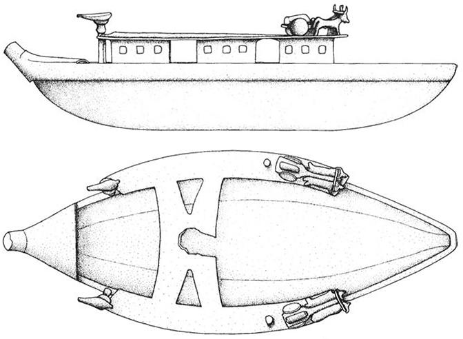 Partie originale de bateau datant