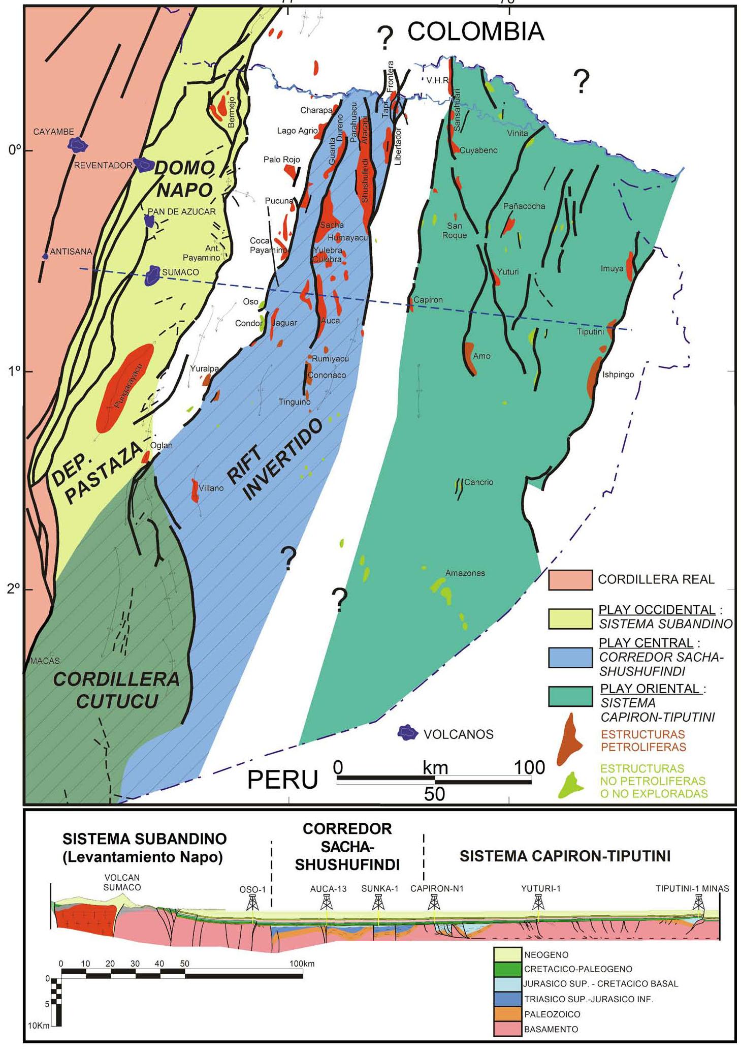 La Cuenca Oriente Geología Y Petróleo Introducción