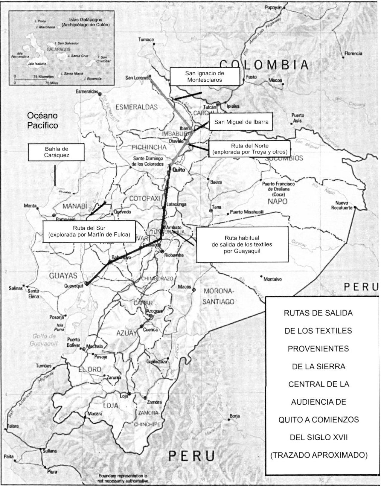 la frontera occidental de la audiencia de quito bibliograf a Redneck El Camino pilaciones de documentos