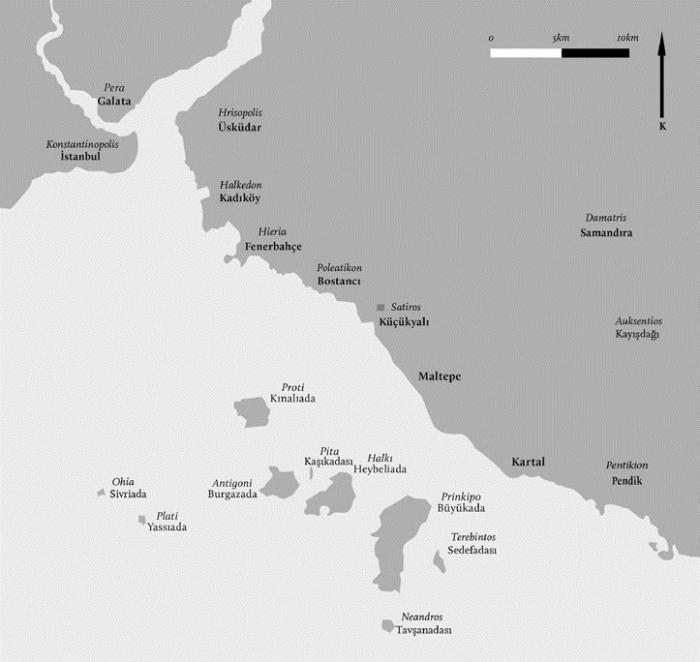 Image result for bizans küçük yalı haritası