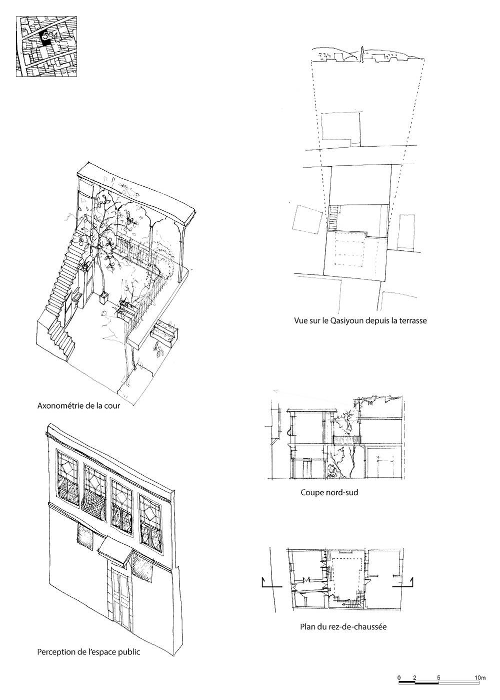 Les faubourgs de damas maisons de salihiyya presses de for Architecture maison traditionnelle libanaise
