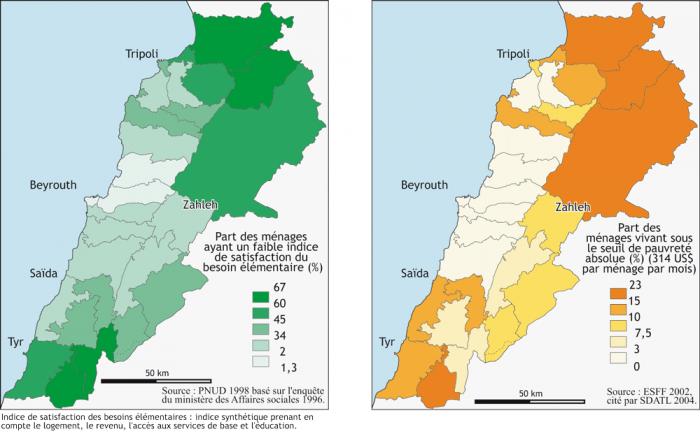 Lebanon Population Density 2