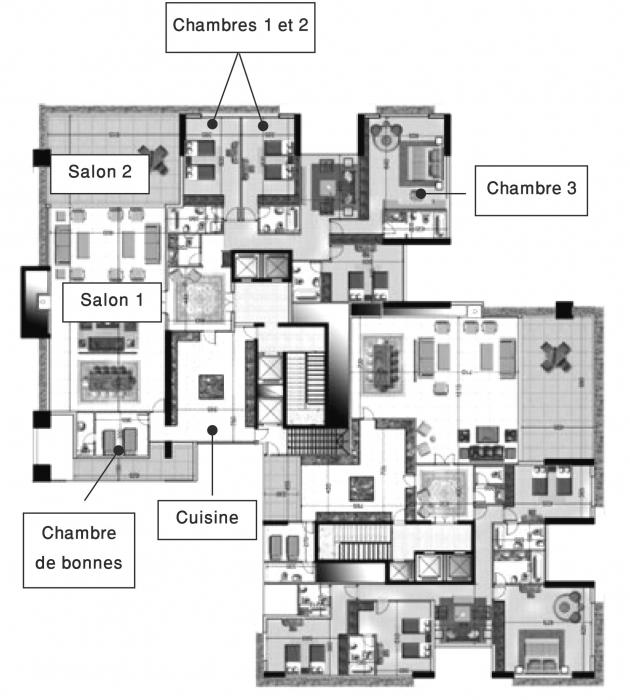 L art du faible chapitre iii de l espace priv l for Maison moderne de luxe plan