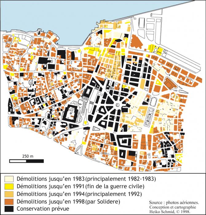 Plan Carte De La Ville De Beyrouth