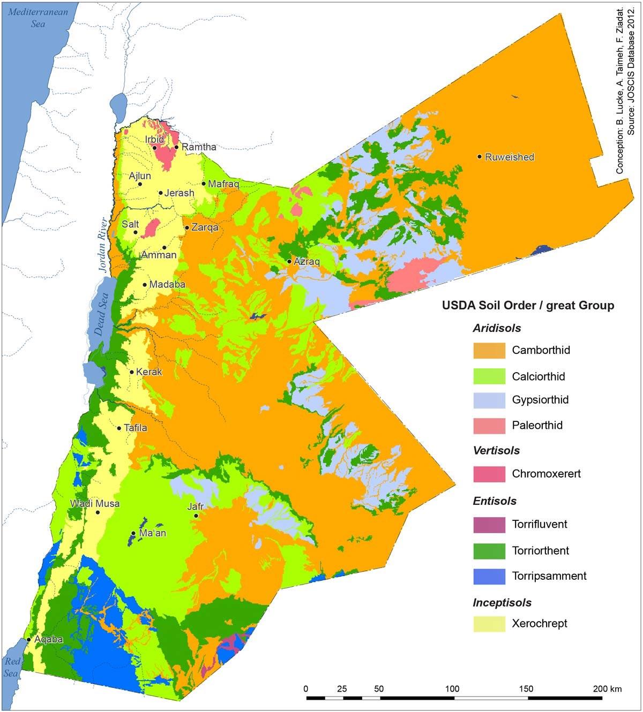 Atlas of jordan the soils of jordan presses de l ifpo for Where can you find soil
