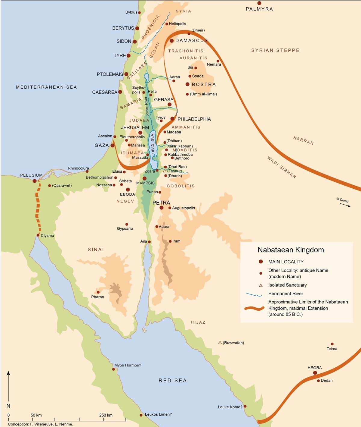 Atlas of Jordan - The Nabataean Age (4th century BC - 1st century AD) -  Presses de l'Ifpo