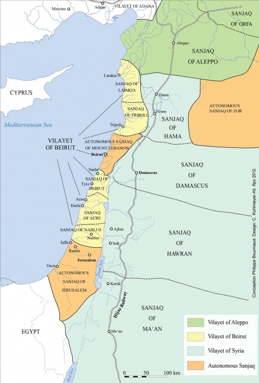 Historical maps of israel and palestine before 1914 administrative division gumiabroncs Gallery