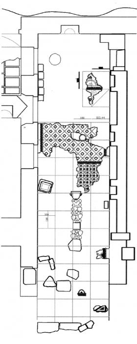 Fig.2‑Plan de la salle sud du bâtiment C