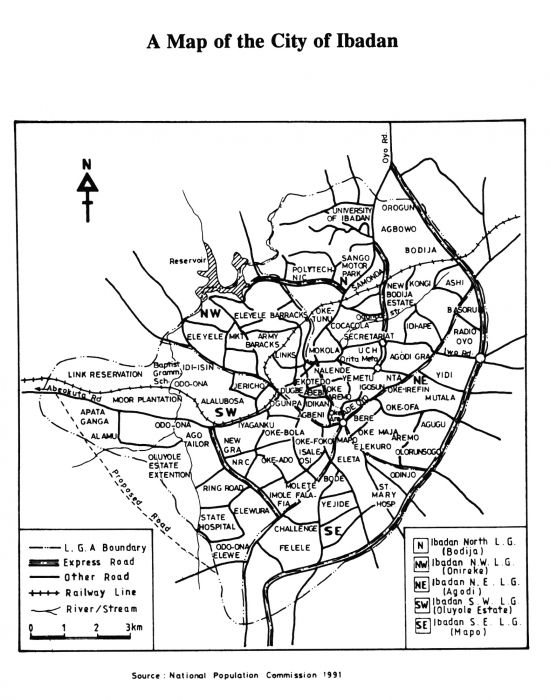 Map Of Ibadan City Informal Channels for Conflict Resolution in Ibadan, Nigeria   A