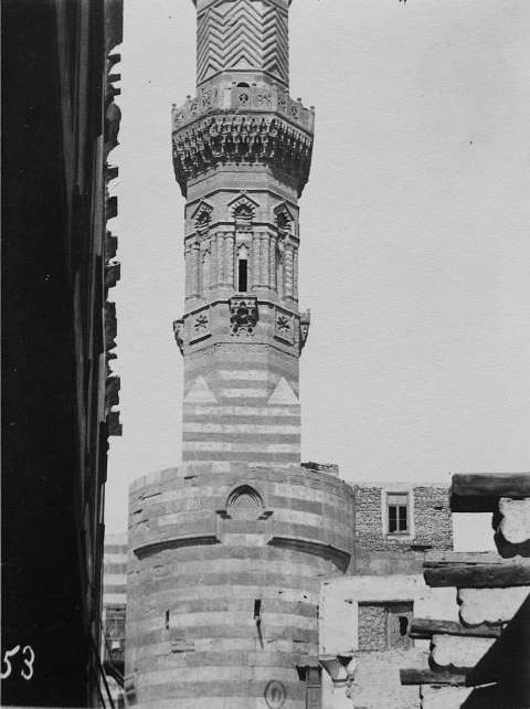 10. A mashrabiyya hanging out of the side of Bab Zuwayla's tower at the level of the slits.