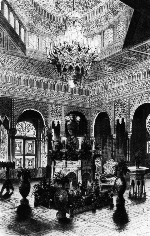 6. Interior View of the Moorish kiosk at the Paris Exposition Universelle in 1867.