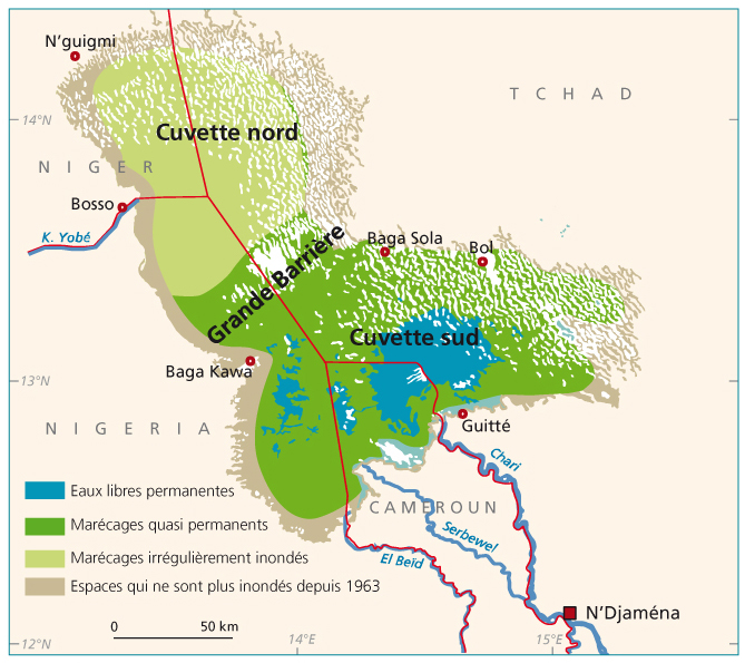 Carte Afrique Lac Tchad.Le Developpement Du Lac Tchad Development Of Lake Chad 1