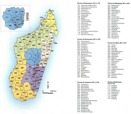 Carte De Madagascar Avec Region Et District.Atlas De La Peste A Madagascar Population Et Organisation