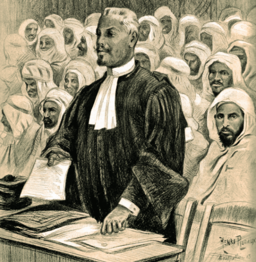 Fig.4 – Me L'Admiral aux Assises de Montpellier (source: La Vie illustrée, 30 janvier 1903)