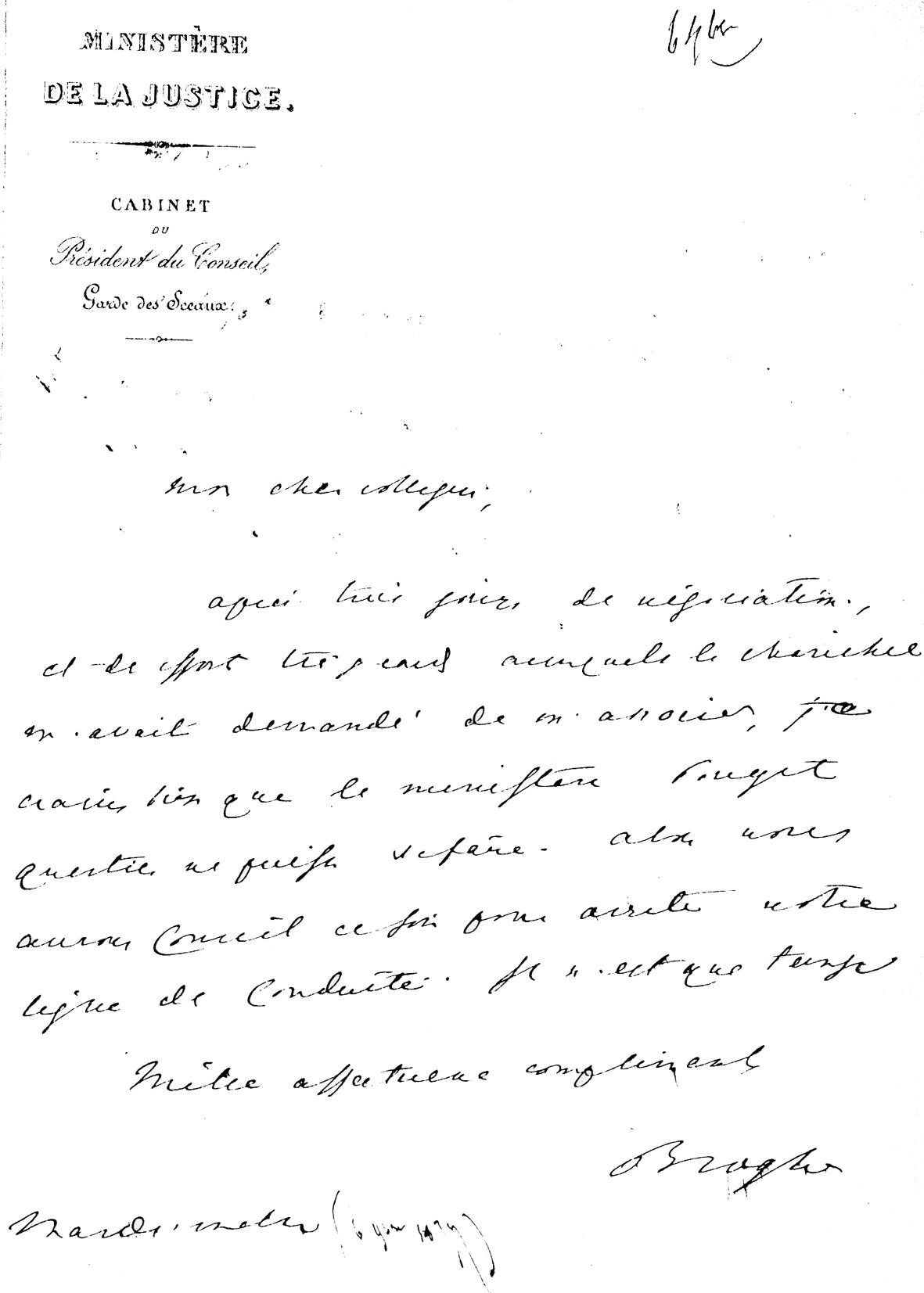 Un Ministre Artésien Dans La Crise Du 16 Mai Novembre 1877