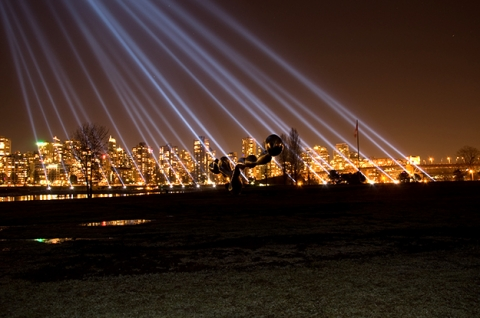 Fig. 5 - Rafael Lozano-Hemmer, Vectorial Elevation, Vancouver, 2010 Cultural Olympiad. Photo Jon Pope.