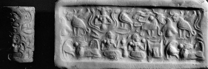 Fig.14–Cylinder seal and modern impression.