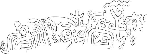 Fig.27–Drawing of fragmentary ancient impression of a cylinder seal.