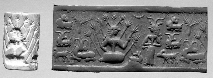 Fig.8–Cylinder seal and modern impression.