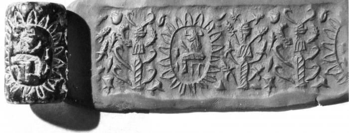 Fig.9–Cylinder seal and modern impression.