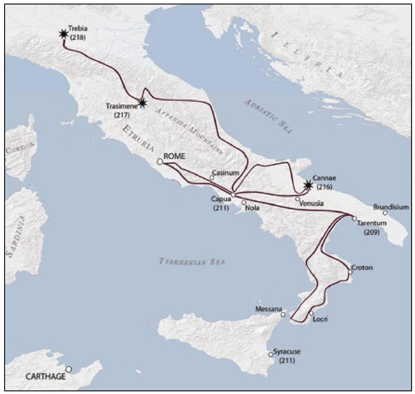 Tarentum Italy Map.Cornelius Nepos Life Of Hannibal 3 Historical Context And