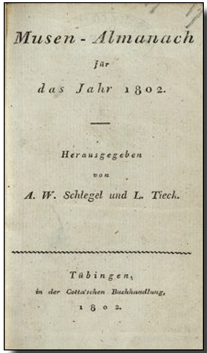 The Life of August Wilhelm Schlegel - 2. Jena and Berlin (1795-1804 ...