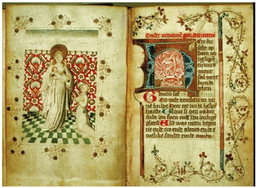 1:12 SCALE MINIATURE  BOOK BREVIARY BELGIUM 1500 MEDIEVAL