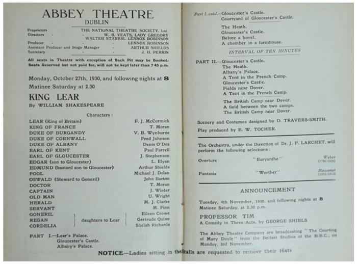 Yeats's Legacies - Shakespeare in Purgatory: 'A Scene of