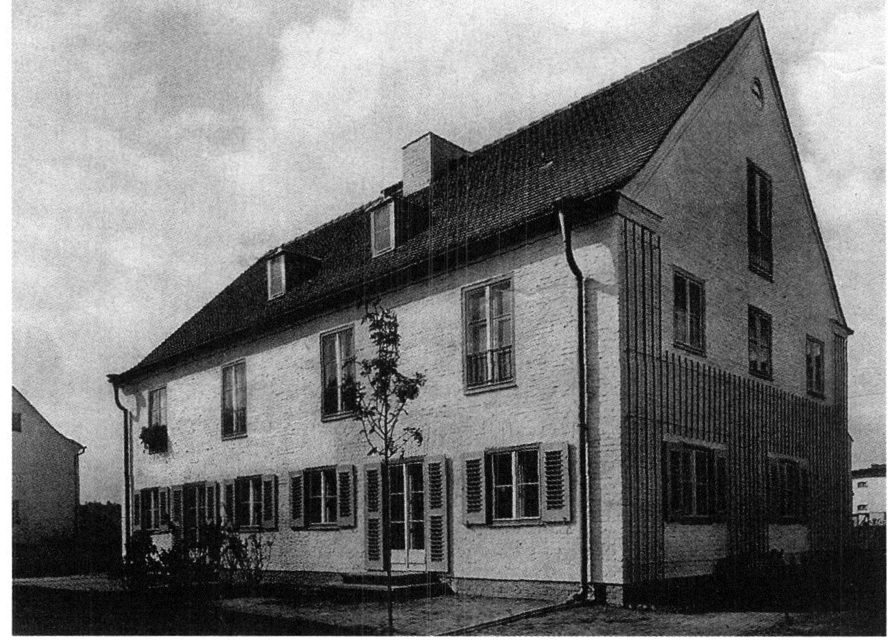 Guerre du toit et modernit architecturale chapitre i les cit s de berlin zehlendorf et le - Maison jardin berlin ...