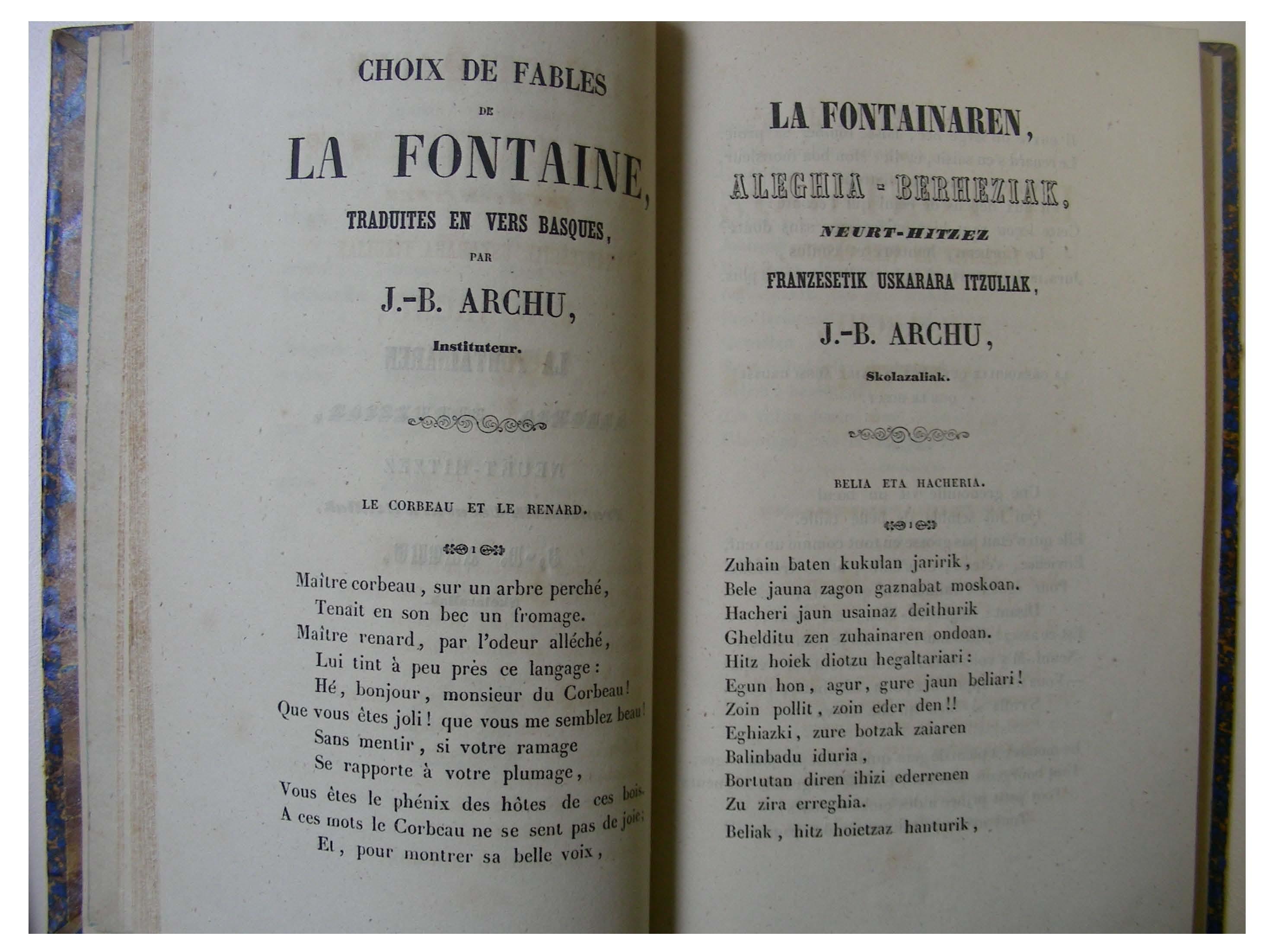 Archu Le corbeau et le renard Belea eta Hacheria