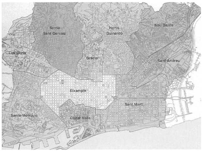 Carte Eixample Barcelone.Barcelone Ou Comment Refaire Une Ville Barcelone Au Tournant Des