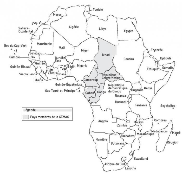Carte Politique De Lafrique Centrale.Introduction A La Politique Africaine 11 L Integration