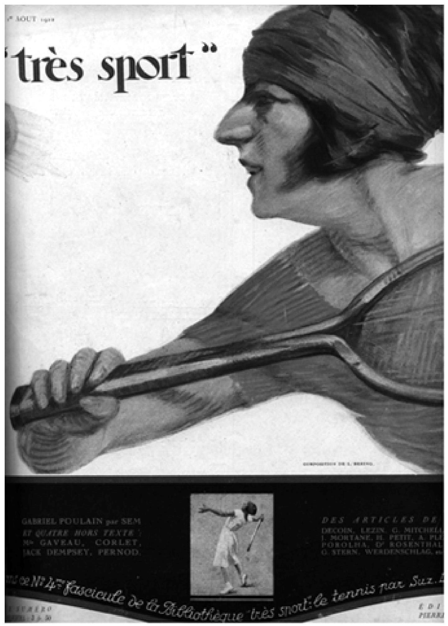 L année 1925 Suzanne Lenglen une sportive Art déco Presses