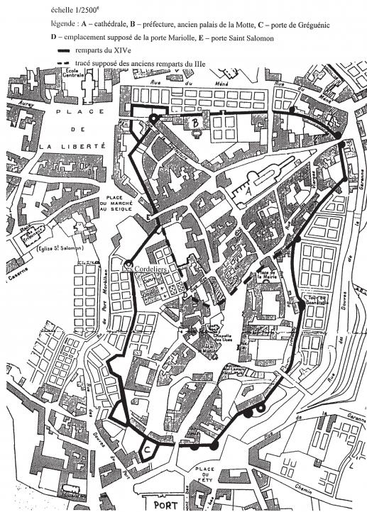 Plan Centre Ville Vannes