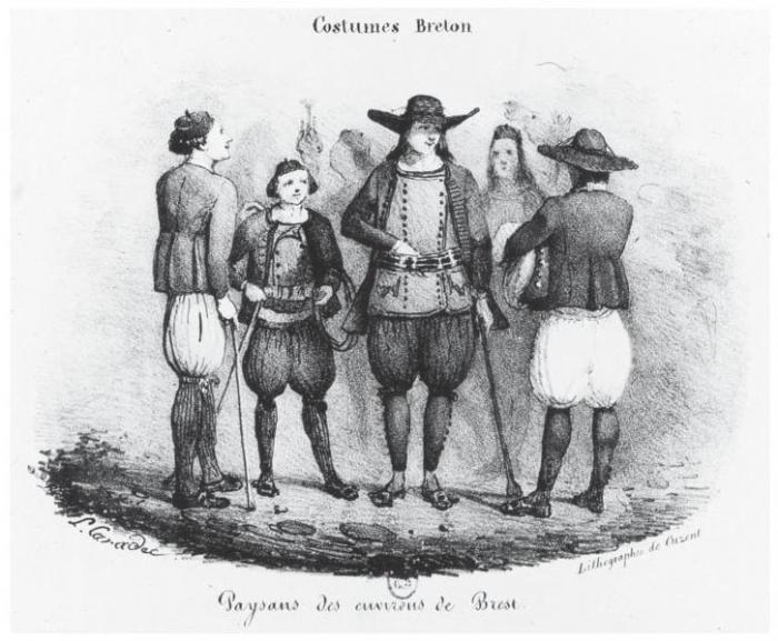 Les costumes régionaux , Regards des lithographes bretons