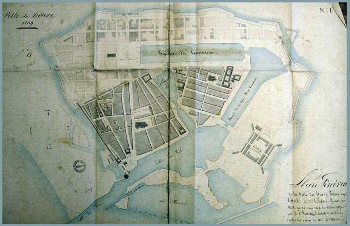 Adroit Seine Maritime Le Havre Basse Seine; Bassin Marée 1900 Old Antique Map Chart
