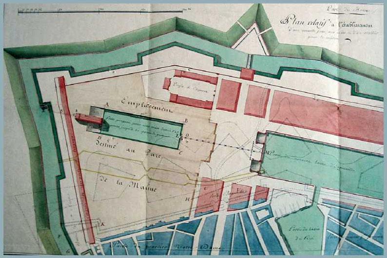 Le Havre Basse Seine; Bassin Marée 1900 Old Antique Map Chart Maritime Adroit Seine