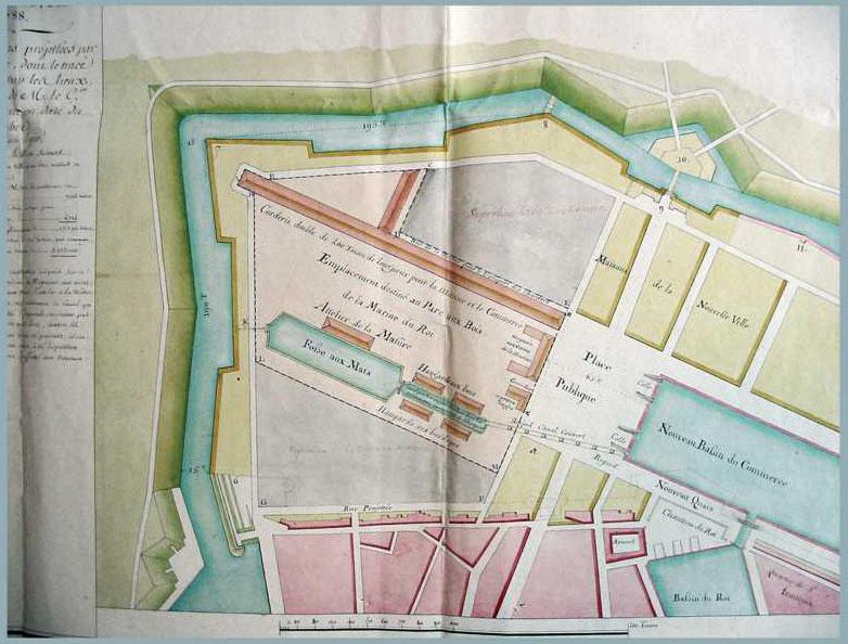 Maritime Le Havre Basse Seine; Bassin Marée 1900 Old Antique Map Chart Adroit Seine